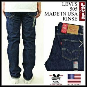 Levis. Whitw Oak Cone Mills denim. Made in U.S.A.